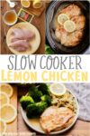collage of lemon chicken photos for pinterest