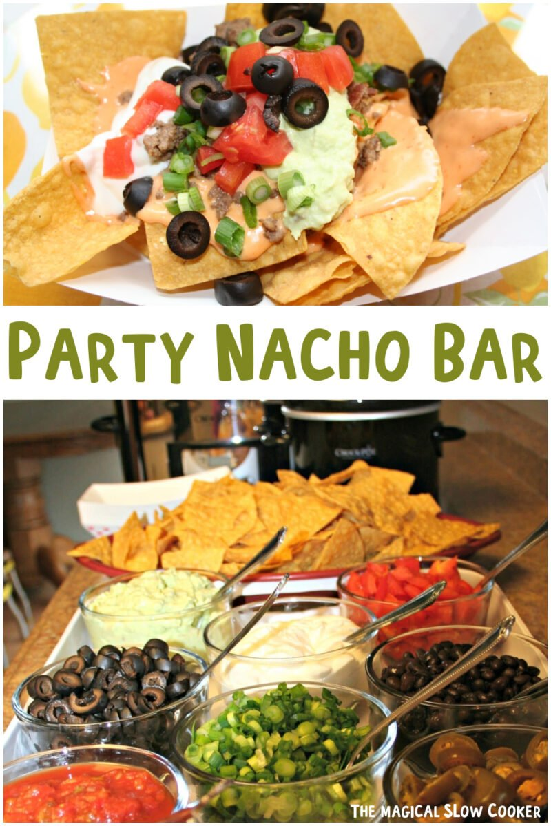 collage of nacho bar images with text overlay