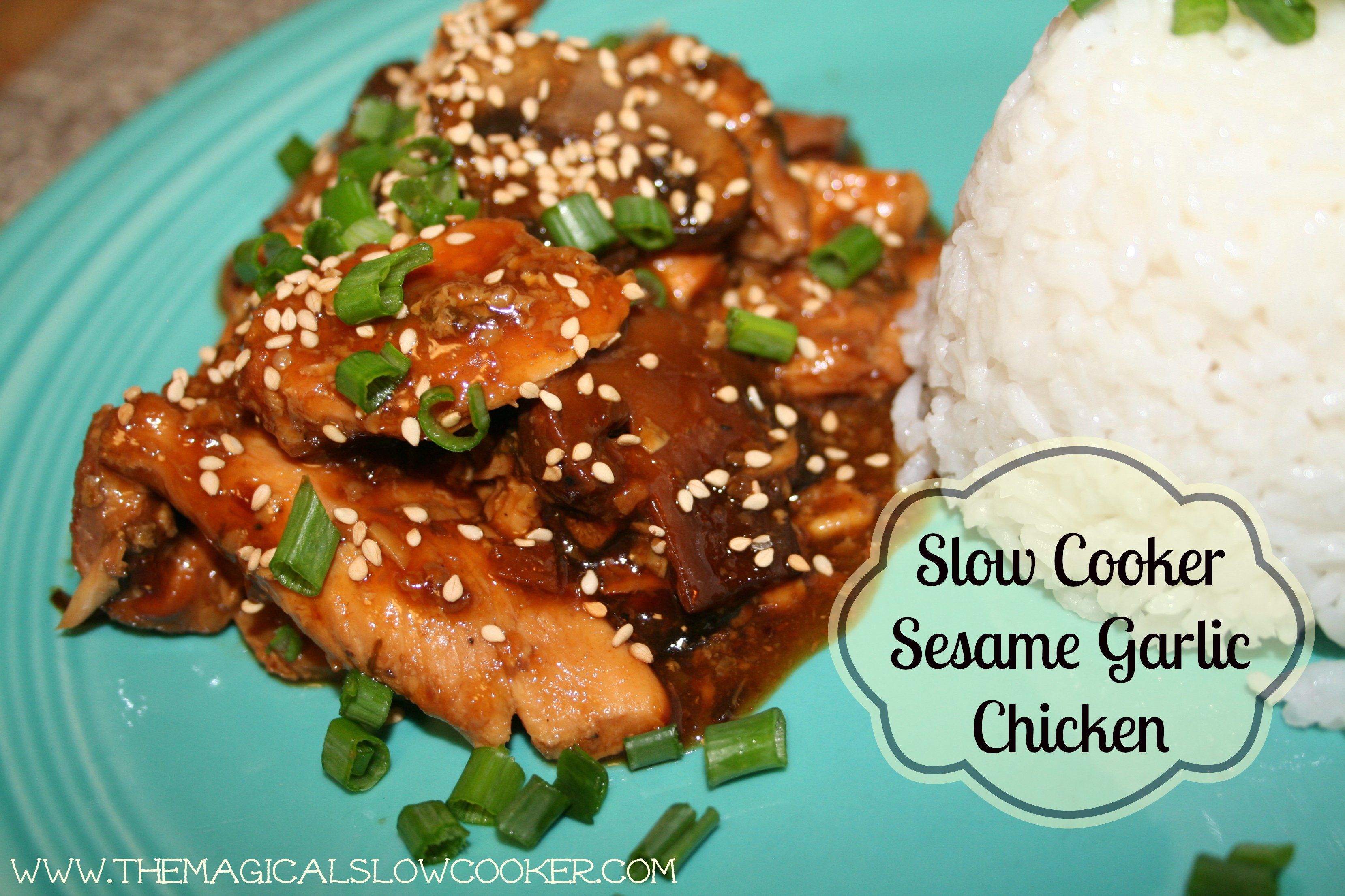 Slow Cooker Sesame Garlic Chicken - The Magical Slow Cooker