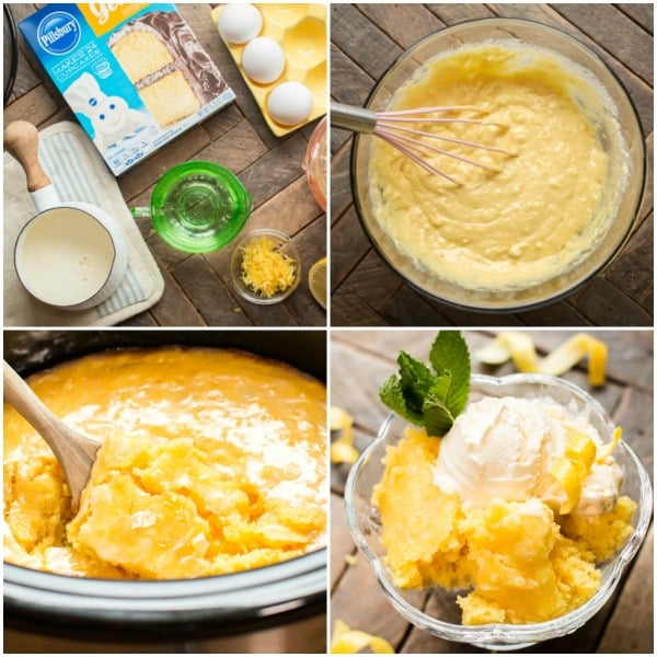 Slow Cooker Lemon Spoon Cake