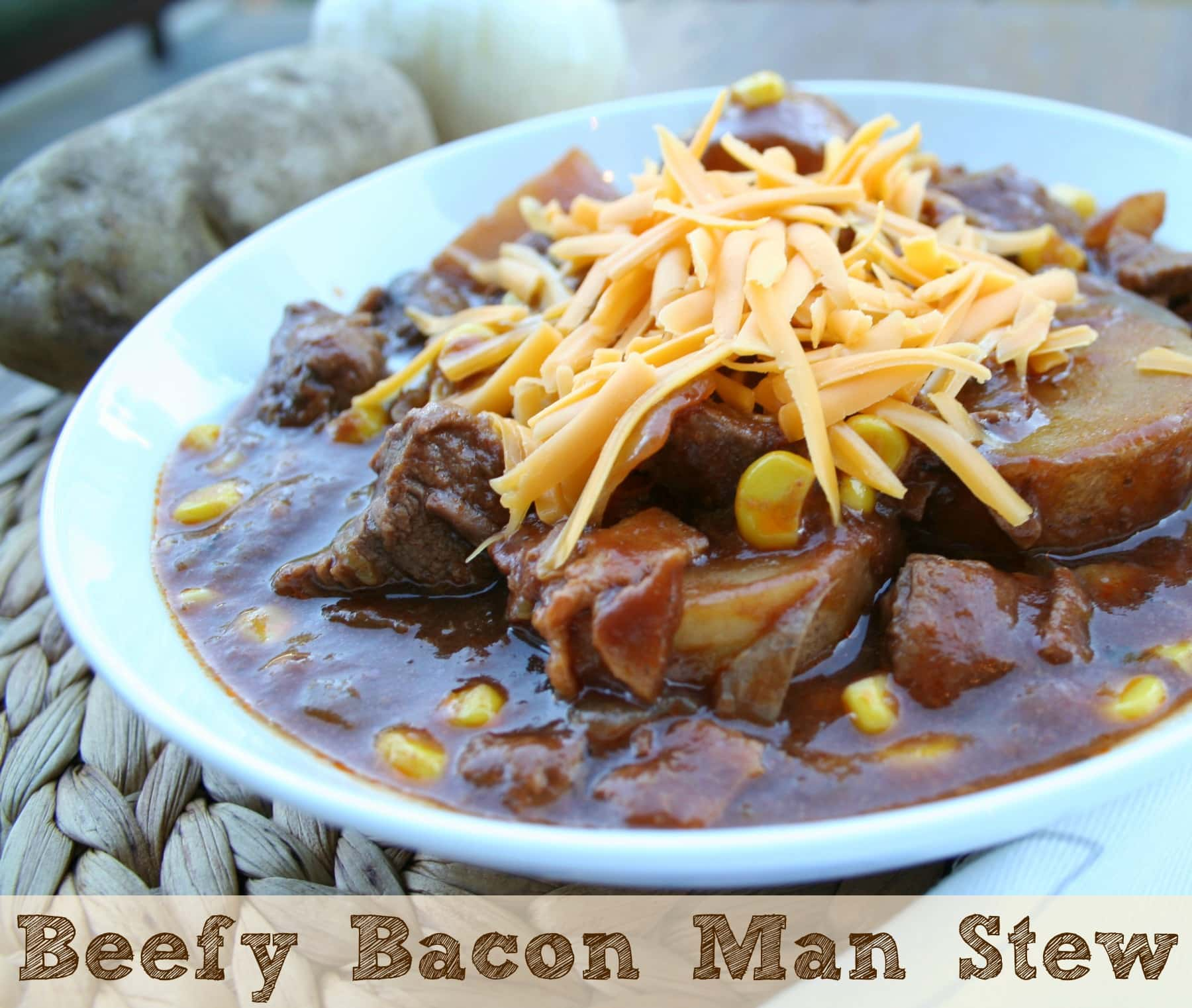 Beefy bacon man stew the magical slow cooker yahoo my recipe for beefy bacon man stew was in the top 10 recipes at the crock pot seasoning mixes recipe contest it was a great experience forumfinder Image collections
