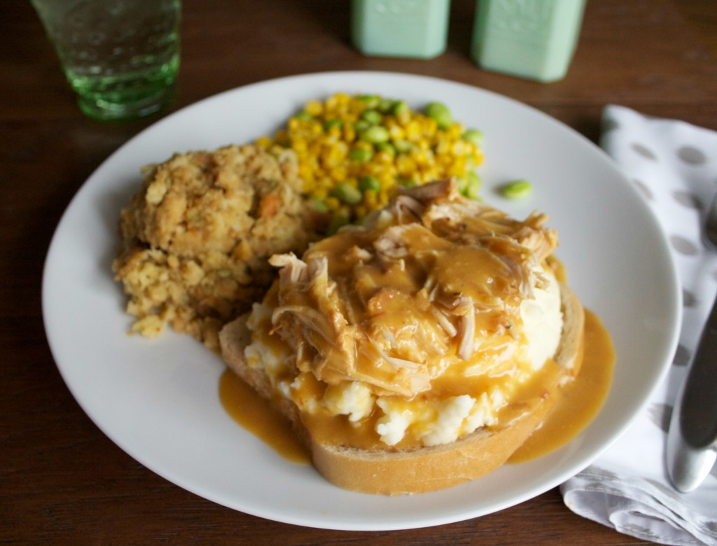 recipe: chicken and gravy over mashed potatoes [15]