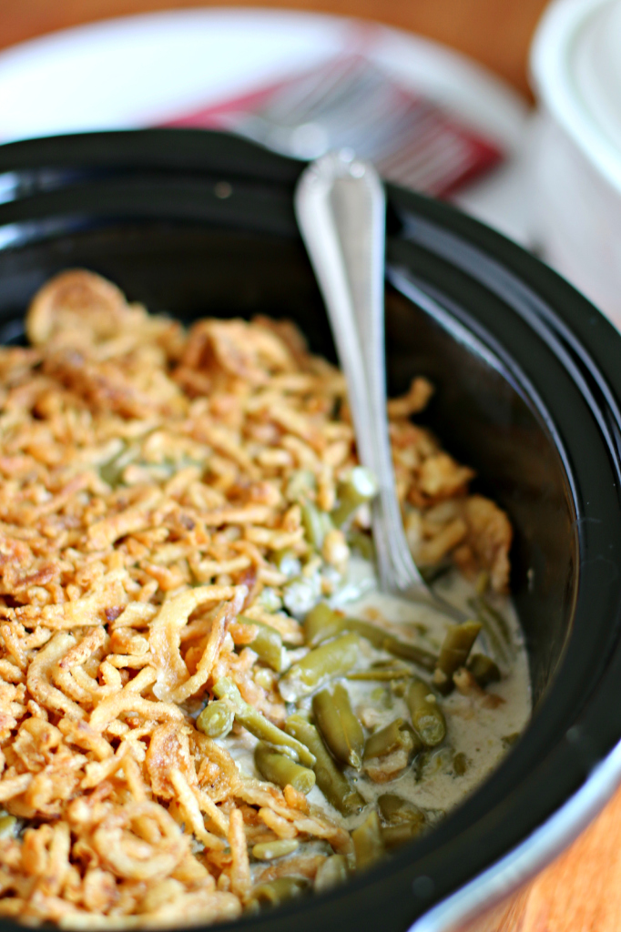 Slow Cooker Green Bean Casserole | The Magical Slow Cooker