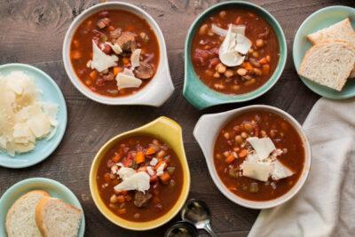 Slow Cooker Hearty Italian Beef Soup