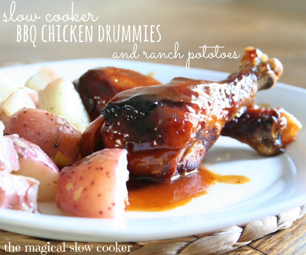 Slow Cooker BBQ Chicken and Ranch Potatoes
