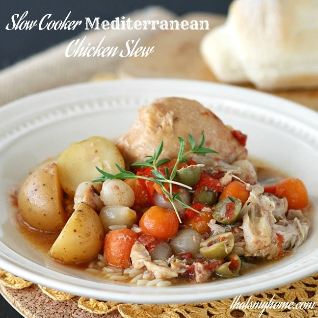 Slow Cooker Mediterranean Chicken Stew