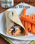 buffalo chicken in wheat tortilla on white plate