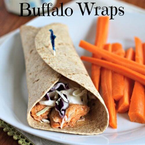 Skinny Buffalo Chicken Wraps