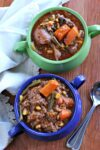 2 bowls of farmers market beef stew in bowls
