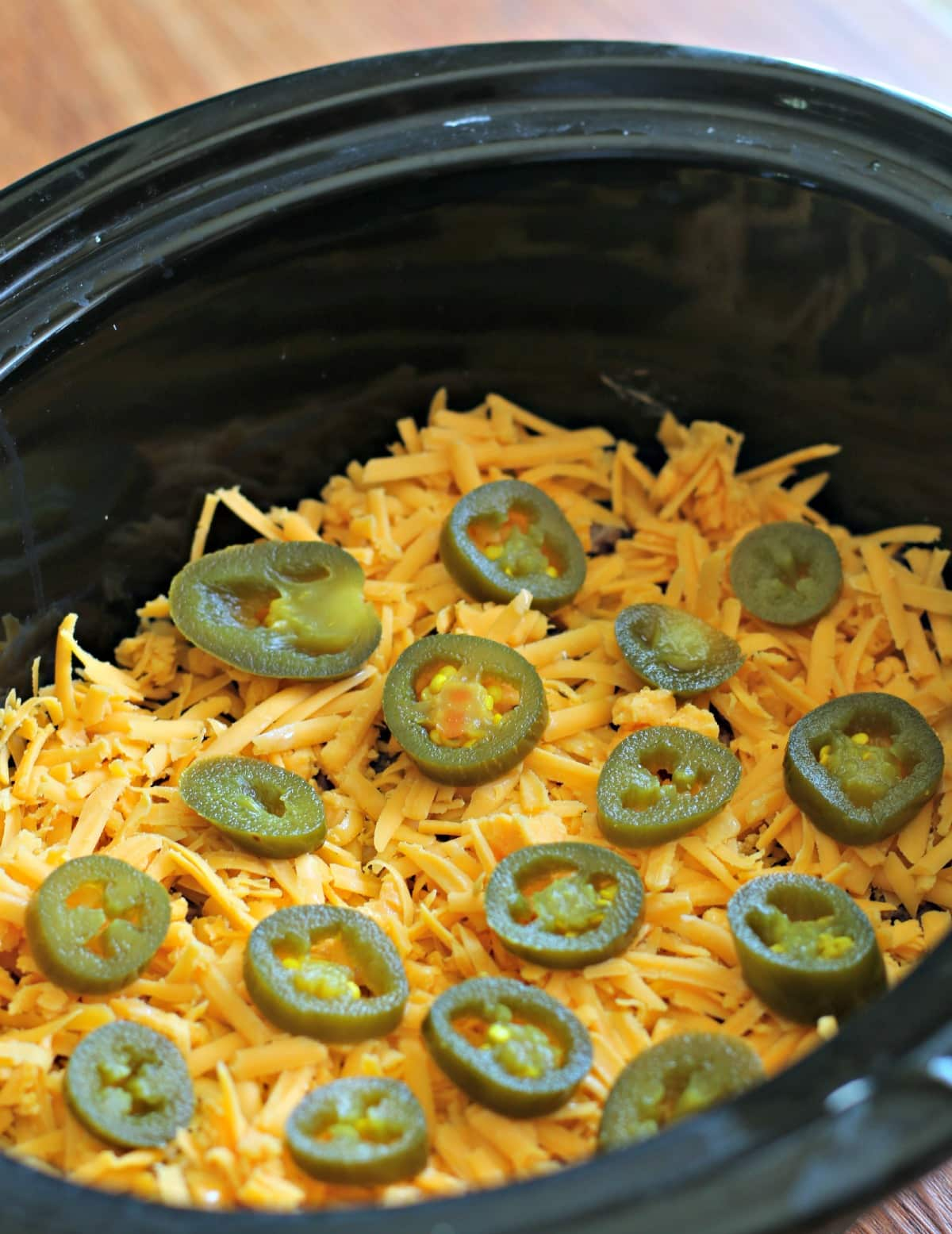 Slow Cooker 7-Layer Bean Dip