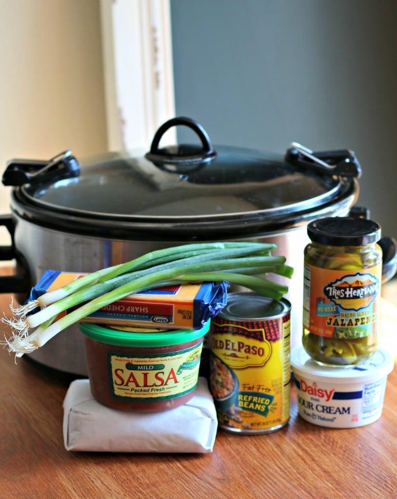 Slow Cooker 7-Layer Bean Dip