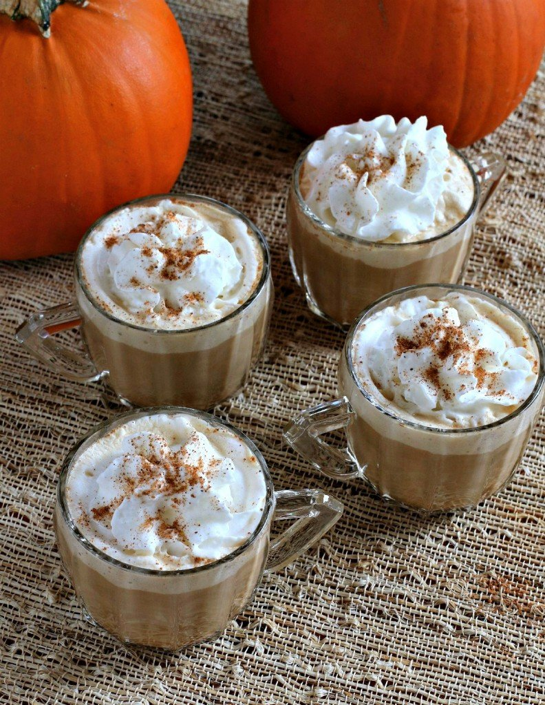 Slow Cooker Spice Pumpkin Lattes