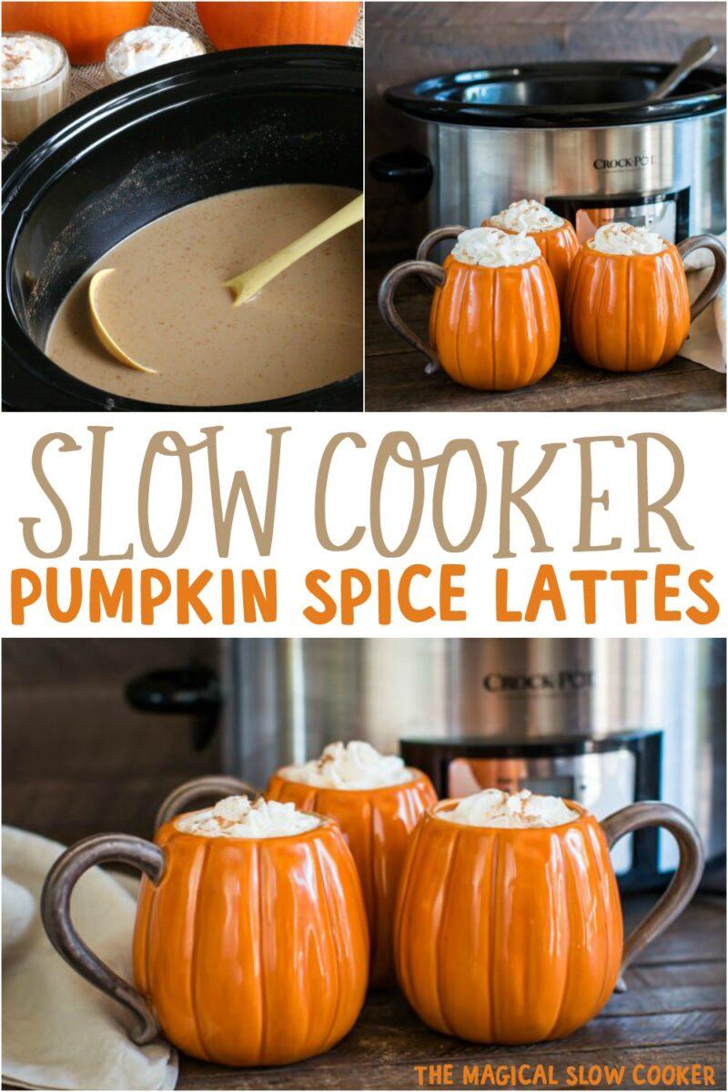 collage of pumpkin spice latte images for pinterest