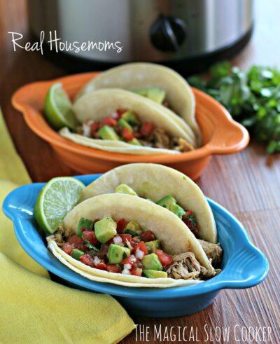 Slow Cooker Chicken Tacos I Real Housemoms