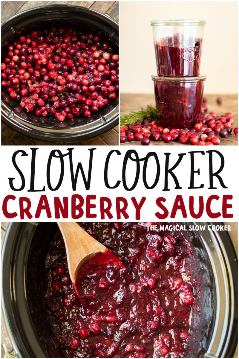 collage of cranberry sauce for pinterest