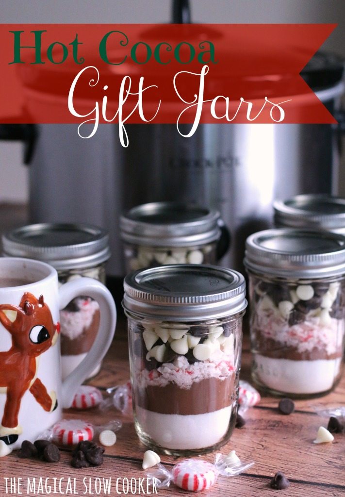 Hot Cocoa Gift Jars l The Magical Slow Cooker