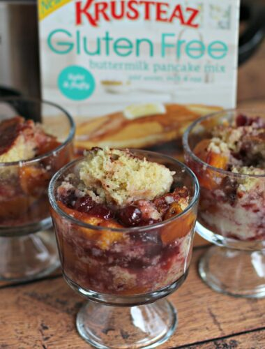 Gluten Free Cranberry Peach Cobbler- The Magical Slow Cooker