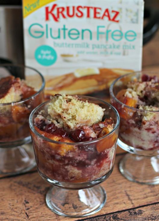 Gluten Free Cranberry Peach Cobbler- The Magical Slow Cooker