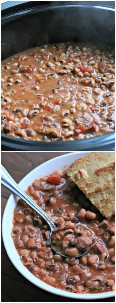 Slow Cooker New Year's Day Black Eyed Peas