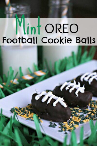 Mint OREO Football Cookie Balls #shop