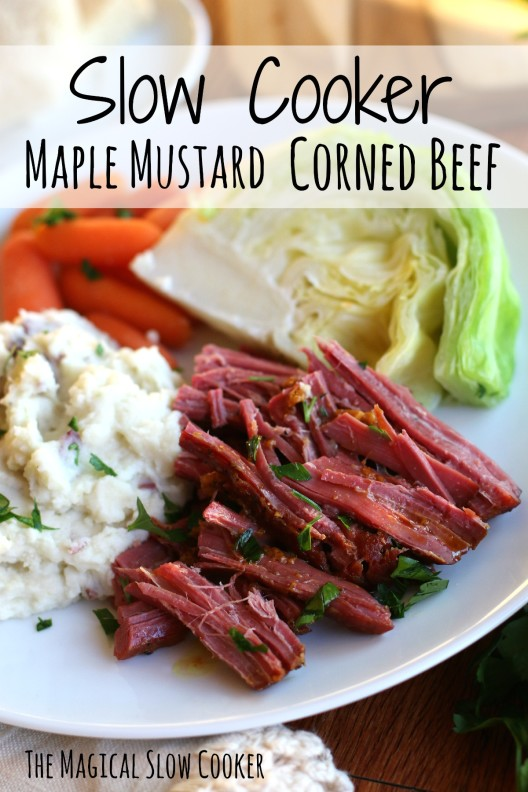 Slow Cooker Maple Mustard Corned Beef