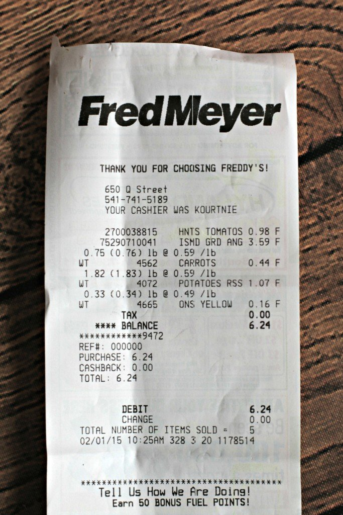 receipt for ingredients for poor man's stew