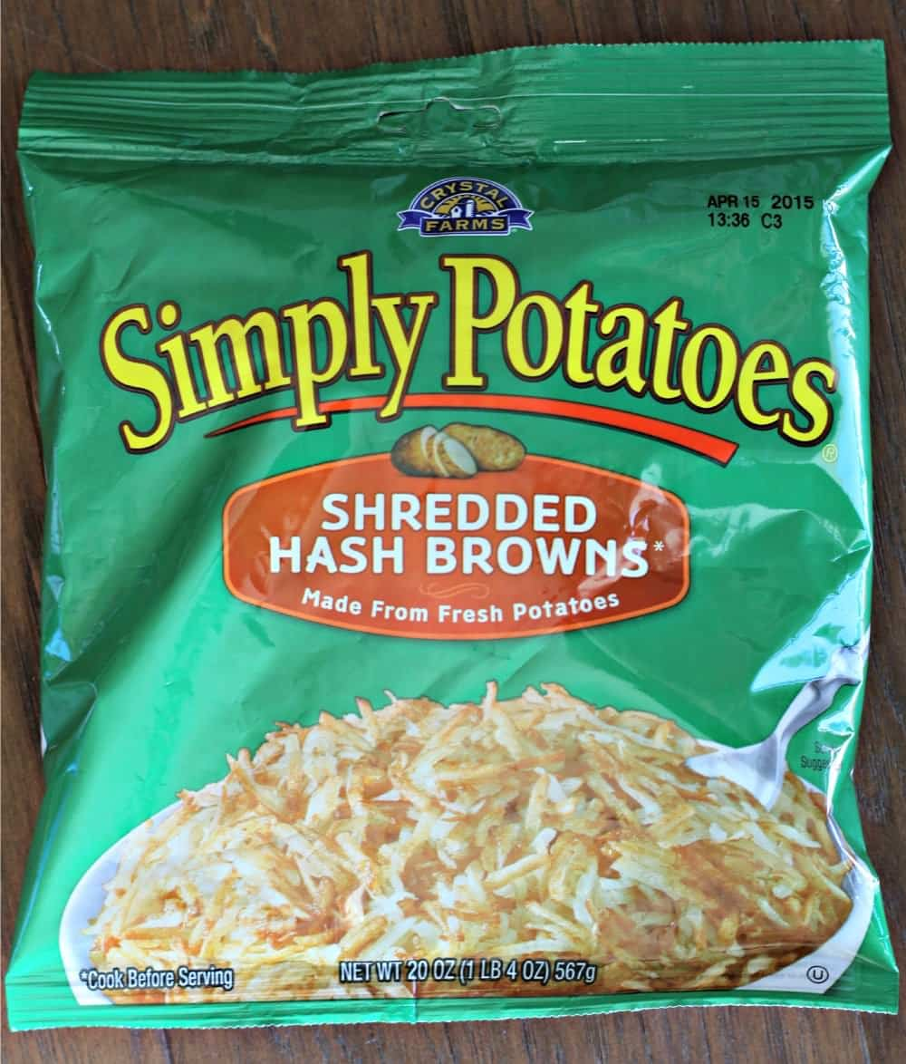 package of simply potatoes hashbrowns