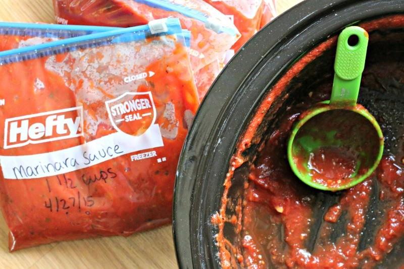 slow cooker emptied of marinara sauce
