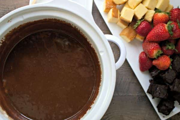 Candy Bar Fondue