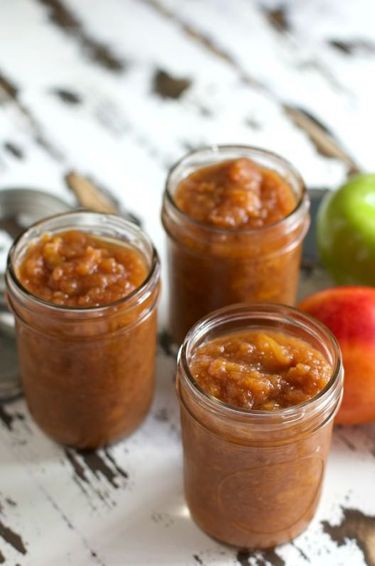 Slow Cooker Nectarine Applesauce