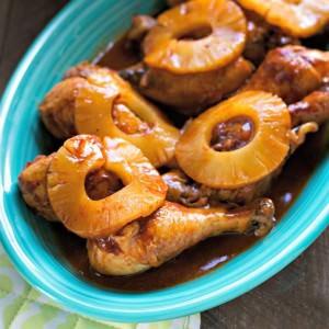 Pineapple Barbecue Glazed Chicken Drumsticks