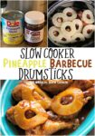 pineapple barbecue drumsticks collage for pinterest
