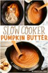 collage of pumpkin butter for pinterest