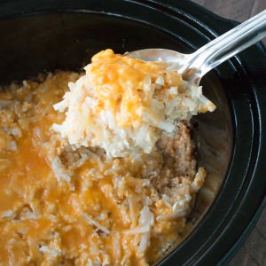 Slow Cooker Cheesy Hash Brown Casserole