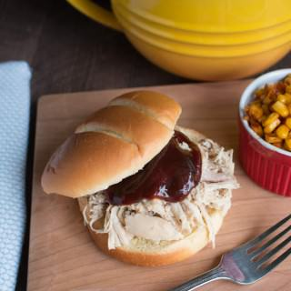 "Slow Cooker ""Smoked"" Chicken Sandwiches"