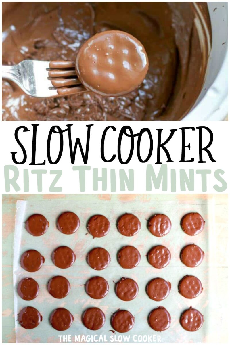 collage of ritz thin mints for pinterest