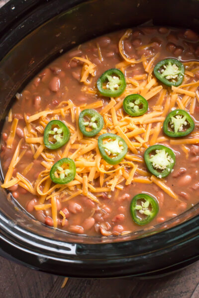 Slow Cooker Spicy Pinto Beans