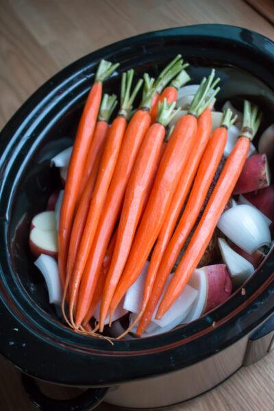 Slow Cooker Balsamic Beef Roast and Veggies