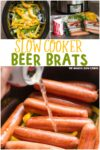 collage of beer brat images for pinterst