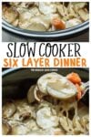 collage of six layer dinner images for pinterest