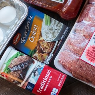 Slow Cooker Onion Soup Mix Meat Loaf {Freezer Friendly}