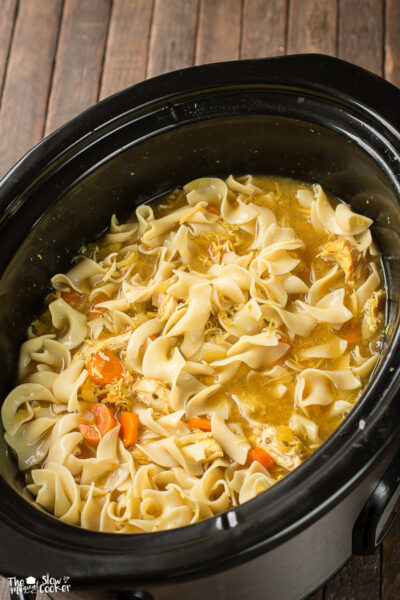 Slow Cooker Curried Chicken Noodle Soup