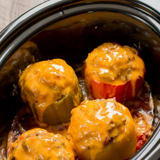 Taco Meat Loaf Stuffed Peppers
