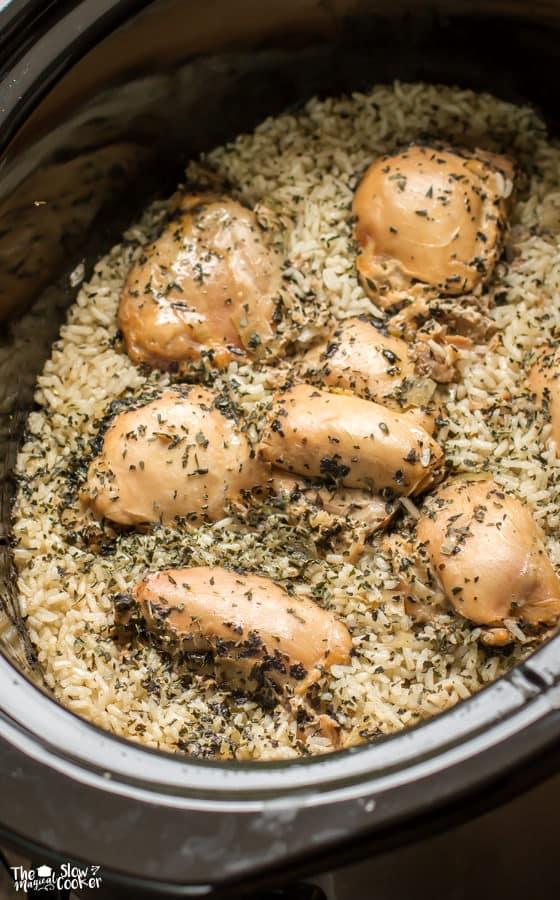 Chicken recipes rice crock pot