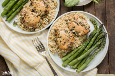 Slow Cooker Basil Chicken and Rice