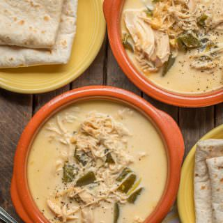 Slow Cooker Creamy Chicken Chile Relleno Soup