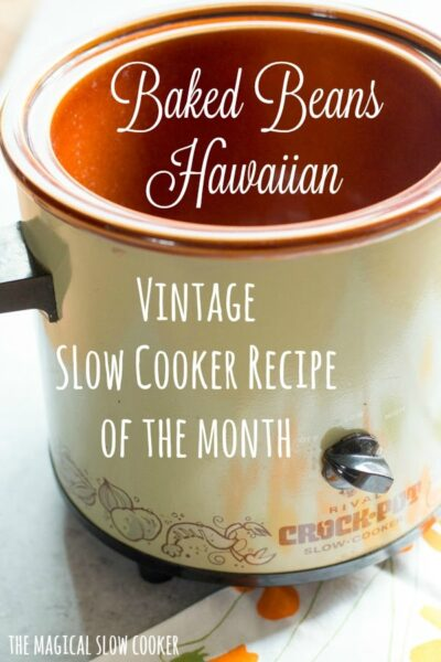 Slow Cooker Baked Beans Hawaiian