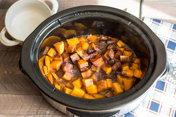 Slow Cooker Cinnamon Sugar Butternut Squash