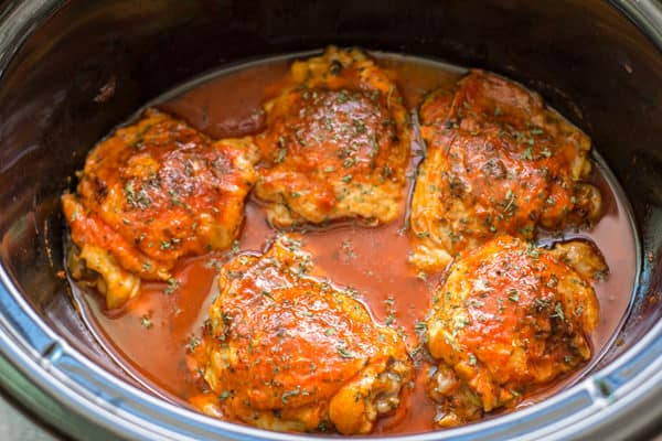 Slow Cooker Hot Chicken