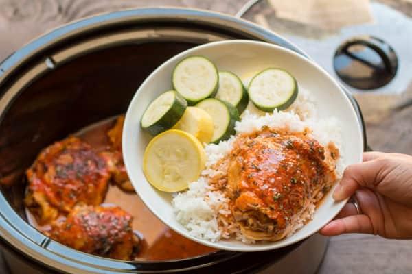 Slow Cooker Hot Chicken